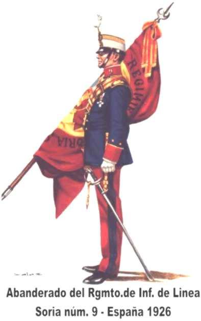 Abanderado-Infantería de Línea Soria-1926